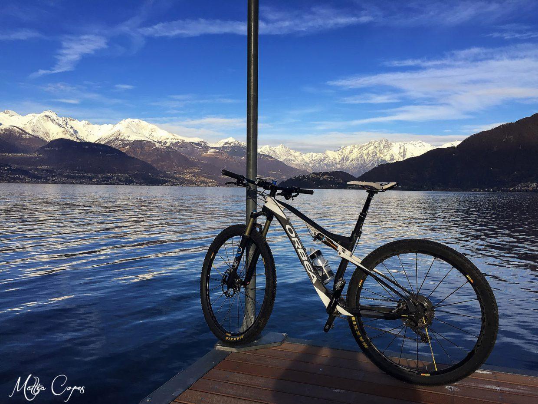Pista ciclabile lungo il Lago di Como