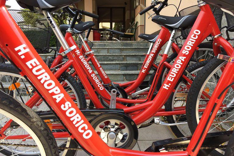 Biciclette Hotel Europa Sorico