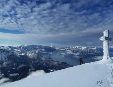 Sci-alpinismo sul Lago di Como